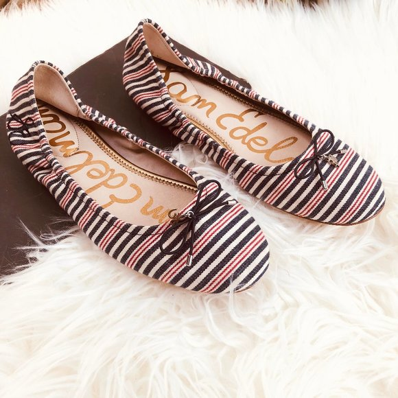 Sam Edelman Shoes - Sam Edelman Striped Felicia Ballet Flat, 10.5
